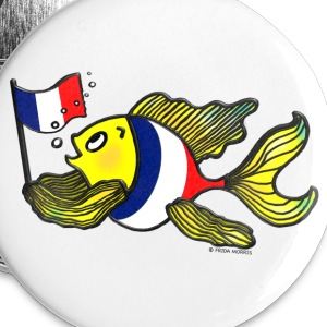 French Flag Fish Fabspark  v4 - Large Buttons