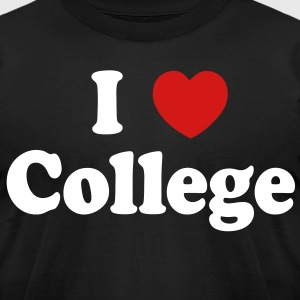 I Love College T-Shirts - stayflyclothing.com - Men's T-Shirt by American Apparel