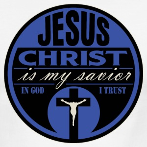 Jesus Christ is My Savior(BLUE) - Men's Ringer T-Shirt