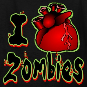 I <3 Zombies (green outline) - Kids' T-Shirt
