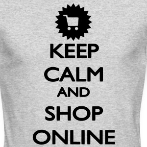 Keep Calm and Shop Online Long Sleeve Shirts - Men's Long Sleeve T-Shirt by Next Level