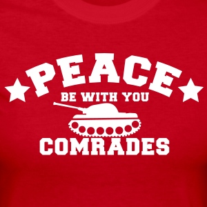 PEACE BE WITH YOU COMRADES with a star and a tank Long Sleeve Shirts - Women's Long Sleeve Jersey T-Shirt