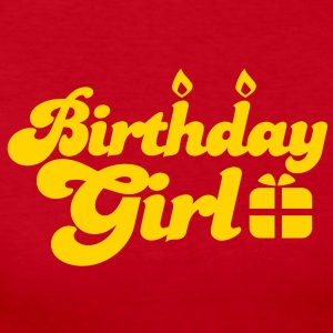 birthday girl new with present Long Sleeve Shirts - Women's Long Sleeve Jersey T-Shirt