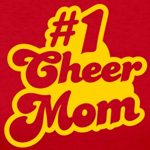 #1 cheer mom number one Long Sleeve Shirts - Women's Long Sleeve Jersey T-Shirt