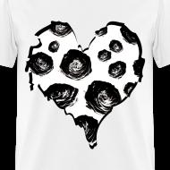 Design ~ Mens Rose Heart Street Style Fashion T-Shirt