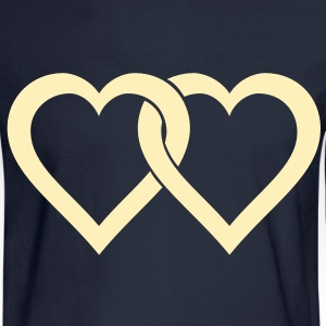 two hearts Long Sleeve Shirts - Men's Long Sleeve T-Shirt