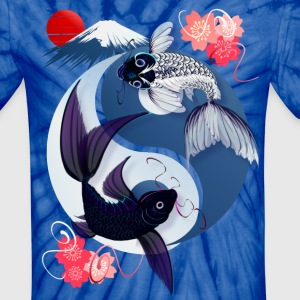 Yin and Yang Koi - Unisex Tie Dye T-Shirt