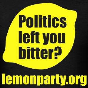 Politics left you bitter? lemonparty.org T-Shirts - Men's T-Shirt