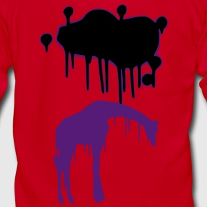 Giraffe Graphic Design Picture Vector - Cool Pink and Blue Animal Graffiti Giraffe Getting Rained on By a Paint Splatter Cloud! Emo, sad, funny, joke, cute Great for Ipad cases, iphone cases, hoodies, tshirts, tank tops, etc! Zip Hoodies/Jackets - Unisex Fleece Zip Hoodie by American Apparel