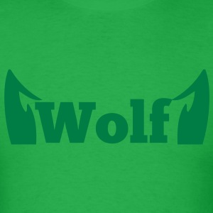 wolf in type with cute ears T-Shirts - Men's T-Shirt