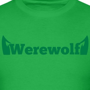 werewolf the word  in type with doggy ears T-Shirts - Men's T-Shirt