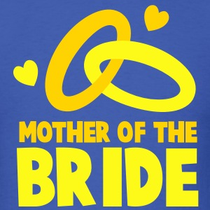 MOTHER OF THE BRIDE with cute love hearts and rings T-Shirts - Men's T-Shirt