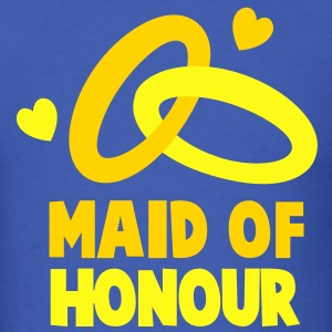 MAID OF HONOUR with love hearts T-Shirts - Men's T-Shirt