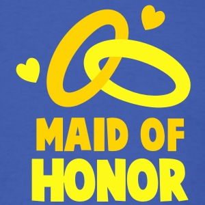 MAID OF HONOR with cute love hearts and rings T-Shirts - Men's T-Shirt