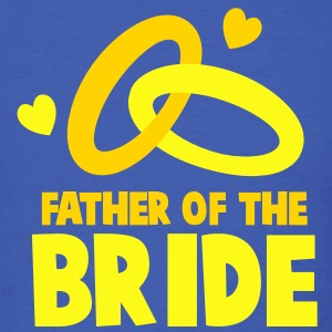 FATHER OF THE BRIDE with cute love hearts and rings T-Shirts - Men's T-Shirt