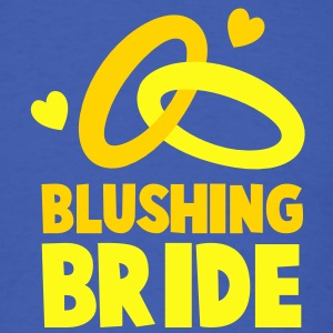 BLUSHING BRIDE with cute love hearts and rings T-Shirts - Men's T-Shirt