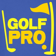golf pro with golf ball flag and club T-Shirts