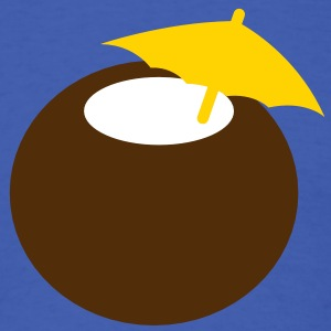 coconut drink with an umbrella T-Shirts - Men's T-Shirt