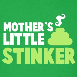 Mother's little Stinker with a steamy poo poop turd T-Shirts - Men's T-Shirt