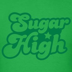 sugar high blue in a funky font T-Shirts - Men's T-Shirt