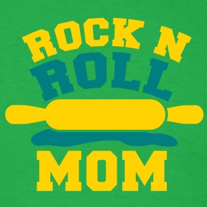 ROCK n ROLL MOM mother baking humour shirt T-Shirts - Men's T-Shirt
