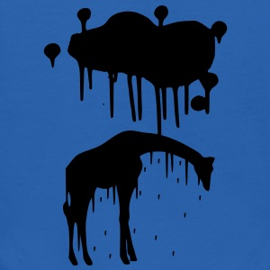 Giraffe Graphic Design Picture Vector - Cool Black Animal Graffiti Giraffe Getting Rained on By a Paint Splatter Cloud! Emo, sad, funny, joke, cute Great for Ipad cases, iphone cases, hoodies, tshirts, tank tops, etc! Sweatshirts - Kids' Hoodie