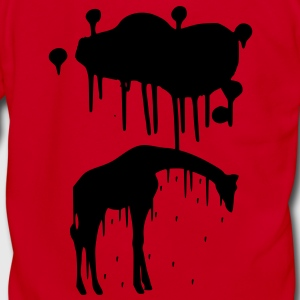 Giraffe Graphic Design Picture Vector - Cool Black Animal Graffiti Giraffe Getting Rained on By a Paint Splatter Cloud! Emo, sad, funny, joke, cute Great for Ipad cases, iphone cases, hoodies, tshirts, tank tops, etc! Zip Hoodies/Jackets - Unisex Fleece Zip Hoodie by American Apparel