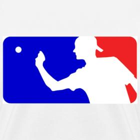 Design ~ Major League Beer Pong Logo Girls Women T Shirt