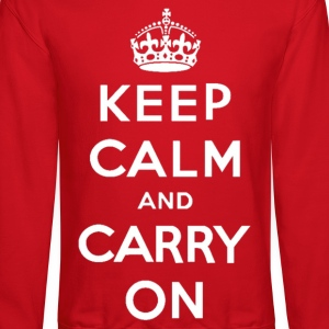 Keep Calm and Carry On Classic Design Long Sleeve Shirts - Crewneck Sweatshirt