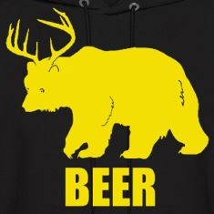 Bear Deer Beer Funny Design Hoodies