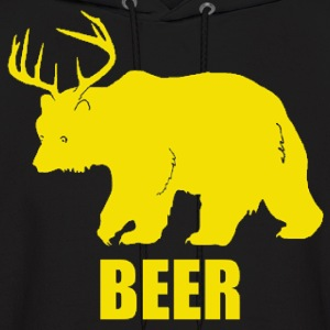 Bear Deer Beer Funny Design Hoodies - Men's Hoodie