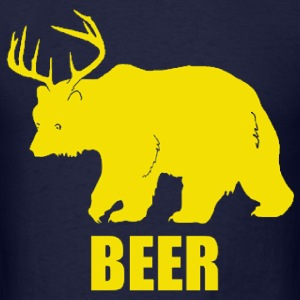Bear Deer Beer Funny Design T-Shirts - Men's T-Shirt