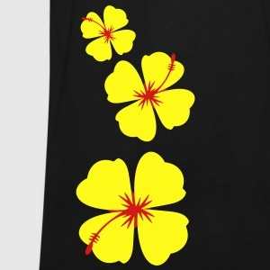 three hibiscus tropical flowers in a row down T-Shirts - Men's V-Neck T-Shirt by Canvas