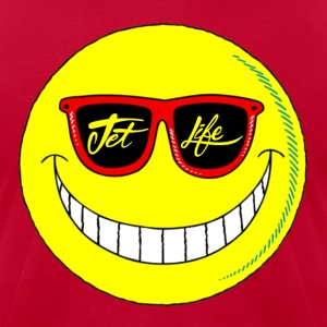 Jet Life Smiley Tee - Men's T-Shirt by American Apparel