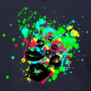 Graffiti Lips Explosion - Multi Color Paint Splatter Graphic Design - Men's Zip Hoodie
