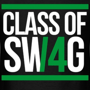 CLASS OF SWAG (2014) Green with bands T-Shirts - Men's T-Shirt