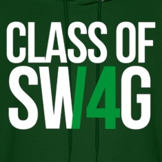 CLASS OF SWAG (14) Green no band Hoodies