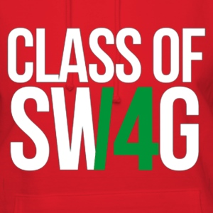 CLASS OF SWAG (14) Green no band Hoodies - Women's Hoodie