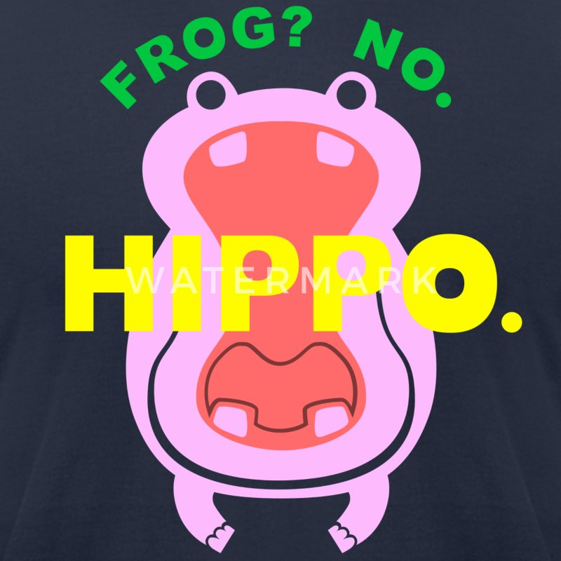 Frog? No. Hippo. T-Shirts - Men's T-Shirt by American Apparel