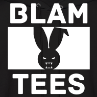Design ~ BlamTees Fashion - Boxed In - Evil Rabbit Logo - Mens Hoodie