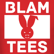 Design ~ BlamTees Fashion - Boxed In - Evil Rabbit Logo - Mens T-Shirt