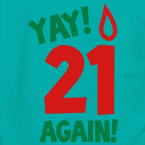 YAY! 21 again! with candle Zip Hoodies/Jackets - Unisex Fleece Zip Hoodie by American Apparel