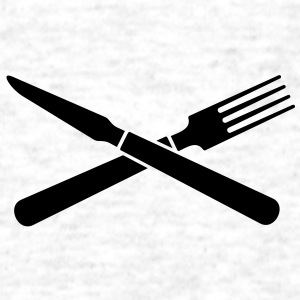 knife and fork (crossed, 1c) T-Shirts - Men's T-Shirt