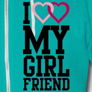 I love my Girlfriend Zip Hoodies/Jackets - Unisex Fleece Zip Hoodie by American Apparel