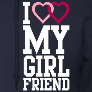 I love my Girlfriend Zip Hoodies/Jackets - Men's Zip Hoodie