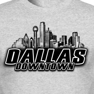 dallas downtown Skyline Long Sleeve Shirts - Men's Long Sleeve T-Shirt by Next Level