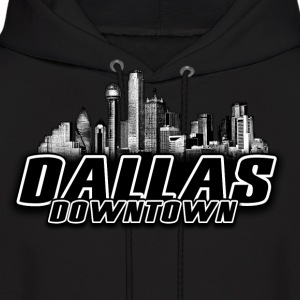 dallas downtown Skyline Hoodies - Men's Hoodie