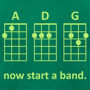 ADG: Now Start a Band (Green) - Men's - Men's T-Shirt by American Apparel