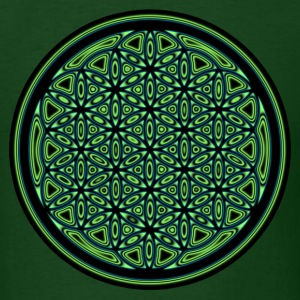Green Flower of Life Orb T-Shirts - Men's T-Shirt