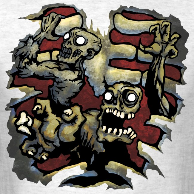 Choice Of Zombies: Ribcage - color (M's)